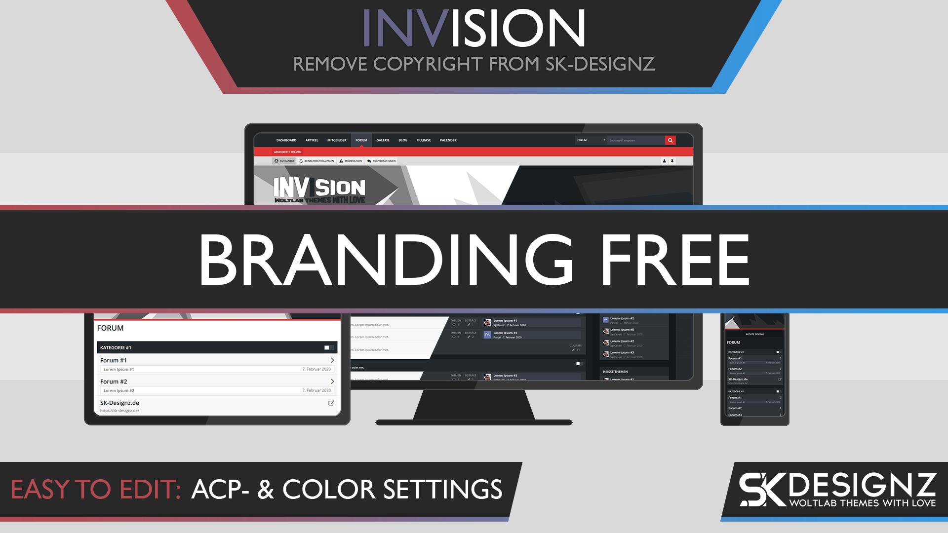 Invision - Branding Free