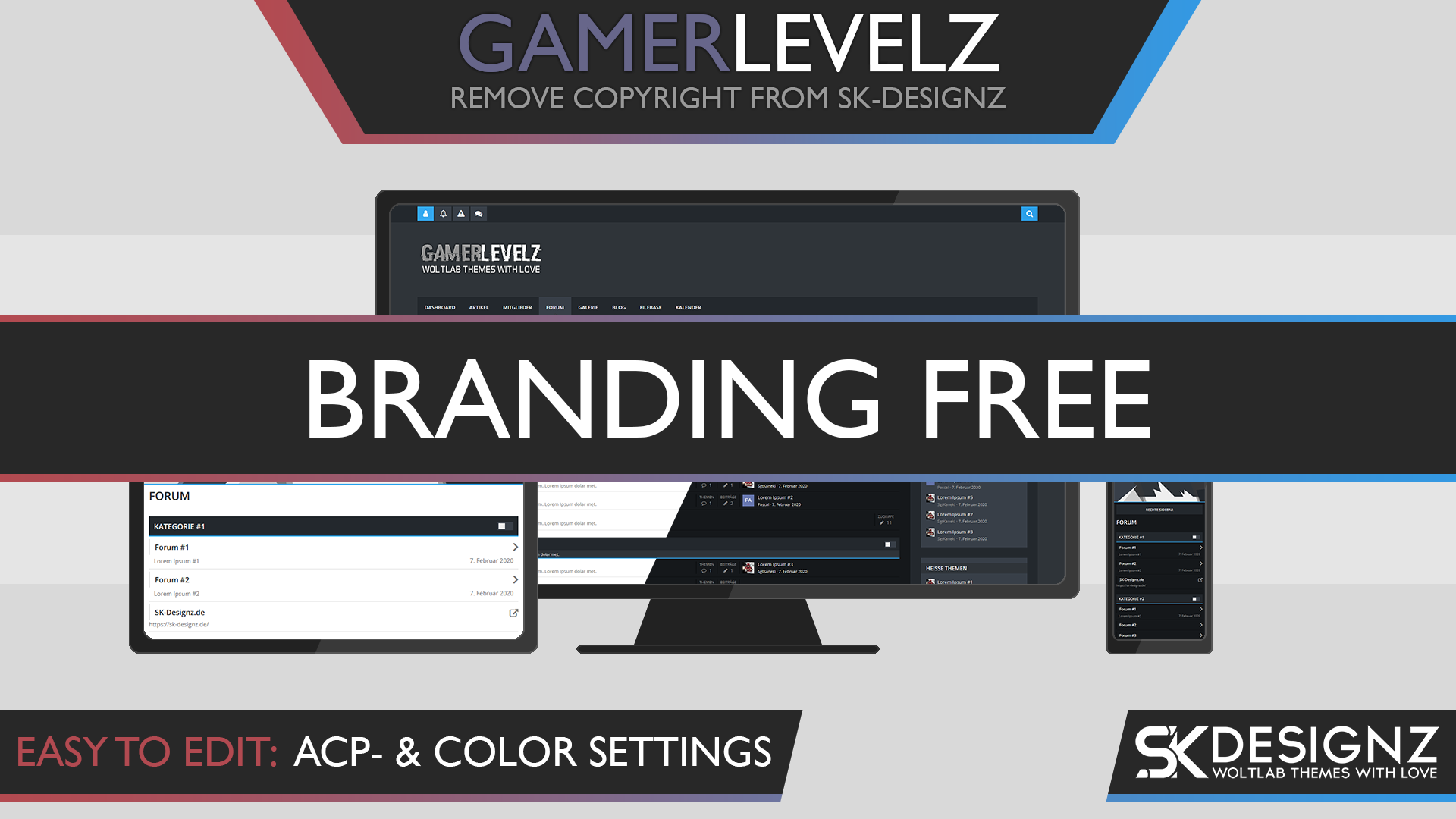 GamerLevelz - Branding Free